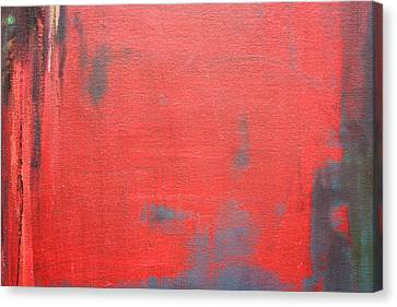 Red Square Dissected X  C2010 Canvas Print by Paul Ashby
