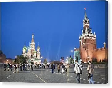 Red Square Canvas Print by Gouzel -