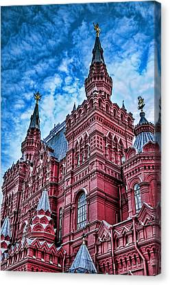 St John The Russian Canvas Print - Red Square - Moscow Russia by Jon Berghoff