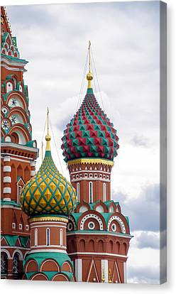 St John The Russian Canvas Print - Red Square - St Basils - Moscow Russia by Jon Berghoff