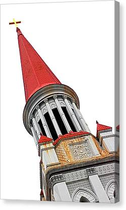 Red Steeple Church Canvas Print