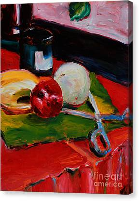 Red Still Life Canvas Print by Janet Felts