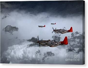 Red Storm Canvas Print by J Biggadike
