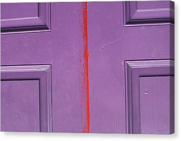 Red Stripe Canvas Print by Peggy Stokes