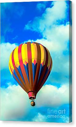 Red Striped Hot Air Balloon Canvas Print by Robert Bales