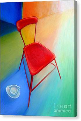 Red Studio Chair Canvas Print by Frederick  Luff
