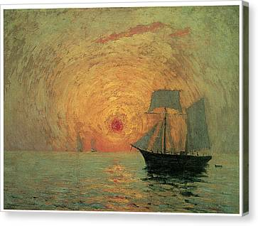 Red Sun Canvas Print by Maxime Maufra