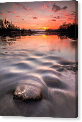 Red Sunset Canvas Print by Davorin Mance