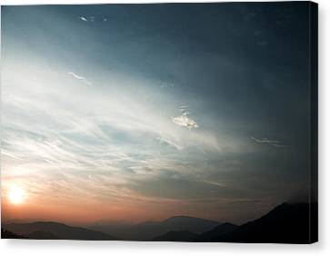 Red Sunset Canvas Print by Rajiv Chopra