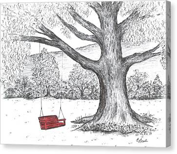 Red Swing Canvas Print