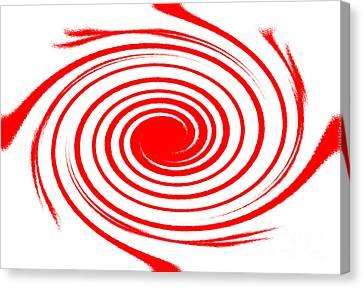 Red Swirl War  Canvas Print by Lali Kacharava
