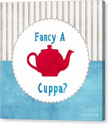 Red Teapot Canvas Print by Linda Woods