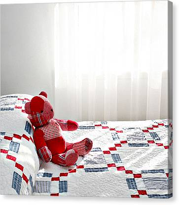 Red Teddy Bear Canvas Print by Art Block Collections
