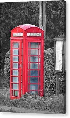 Red Telephone Box Canvas Print by David King