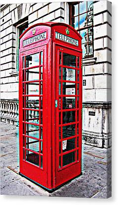 Red Telephone Box Call Box In London Canvas Print