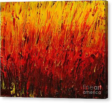 RED Canvas Print by Teresa Wegrzyn