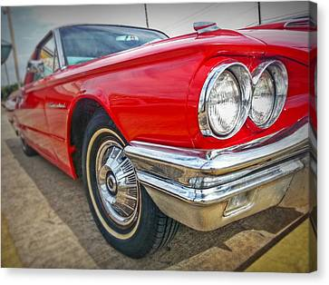 Red Thunderbird Canvas Print by Linda Unger