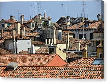 Canvas Print - Red Tiled Roofs From Doges Palace by Sami Sarkis