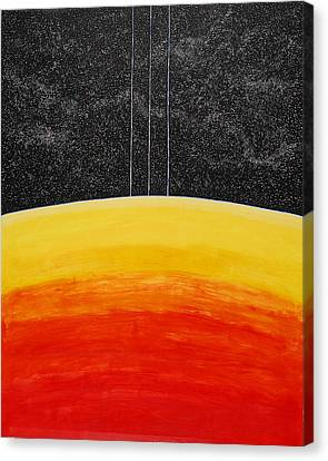 Red To Yellow Spacescape Canvas Print