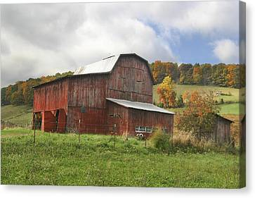 Canvas Print featuring the photograph Red Tobacco Drying Barn by Robert Camp