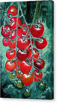 Red Tomatos Canvas Print by Huy Lee