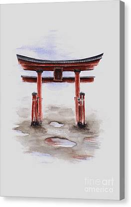 Torii Canvas Print - Red Torii Japanese Temple Gate. by Mariusz Szmerdt