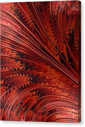 Red Tortoiseshell Abstract Canvas Print by John Edwards