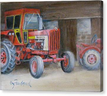 Red Tractor Canvas Print by Oz Freedgood