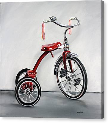 Red Tricycle 1 Canvas Print by Gail Chandler