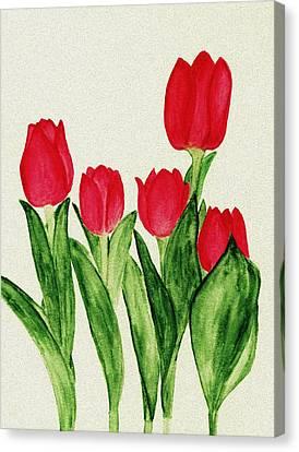 Red Tulips Canvas Print by Anastasiya Malakhova