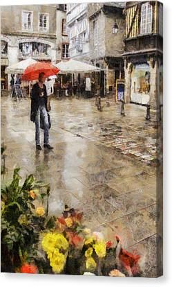 Red Umbrella Canvas Print by Nigel R Bell