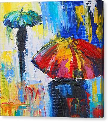 Red Umbrella Canvas Print by Susi Franco