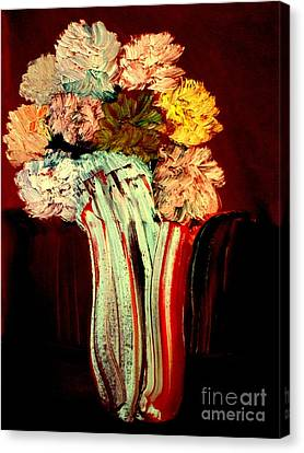 Canvas Print featuring the painting Red Vase 7 by Bill OConnor