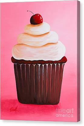 Red Velvet Cupcake By Shawna Erback Canvas Print