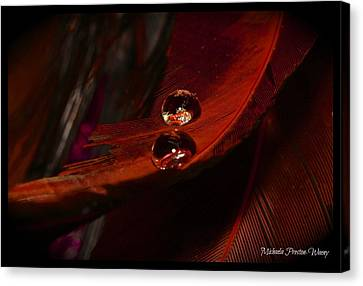 Canvas Print featuring the photograph Red Velvet by Michaela Preston