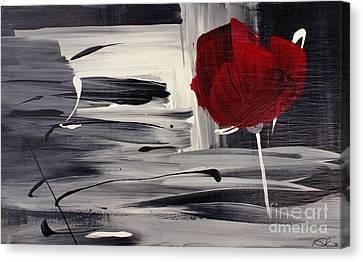 Red Velvet - Rouge Velours Canvas Print by Aimelle