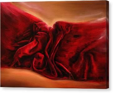 Red Velvet Canvas Print by Tanya Byrd