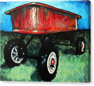 Red Wagon Canvas Print by Arleana Holtzmann