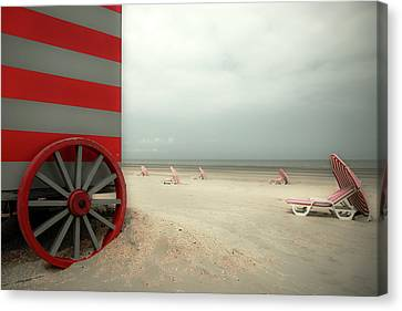 Wagon Canvas Print - Red Wagon by Gilbert Claes