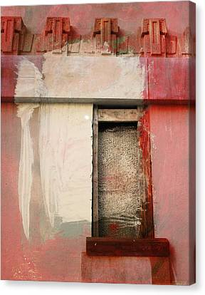 Canvas Print featuring the painting Red Wall by John Fish