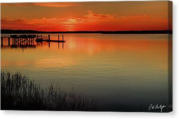 Red Water Canvas Print by Phill Doherty