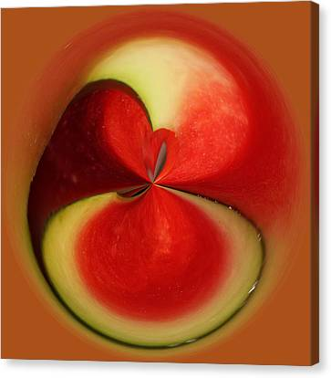 Red Watermelon Canvas Print by Cynthia Guinn
