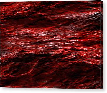 Red Waves Canvas Print by Dennis James