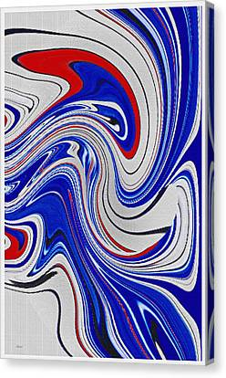 Wavy Canvas Print - Red White And Blue by Donna Proctor