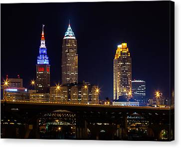 Red White And Blue In Cleveland Canvas Print