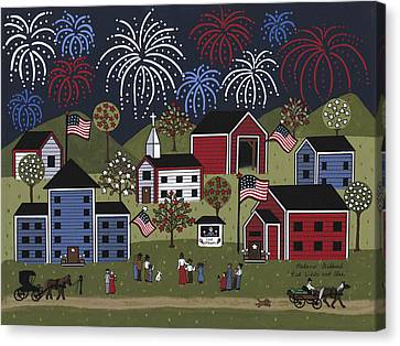 Red White And Blue Canvas Print by Medana Gabbard