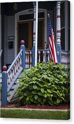Red White And Blue Canvas Print by Wayne Meyer
