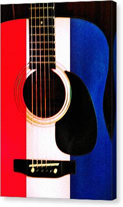 Red White And Blues Canvas Print by Bill Cannon