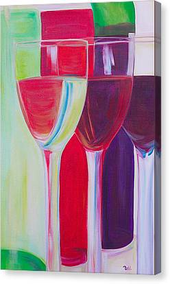 Pinot Noir Canvas Print - Red White And Blush by Debi Starr