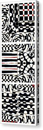 Red White Black Number 4 Canvas Print by Carol Leigh